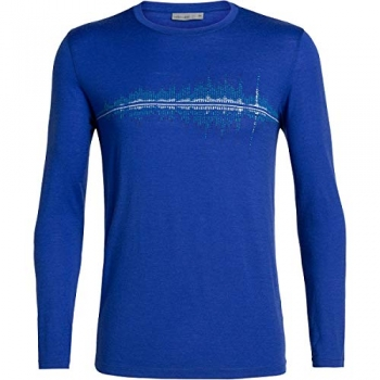 Термофутболка Icebreaker Men's Tech Lite Long Sleeve Crewe Snow Wave арт. 104729