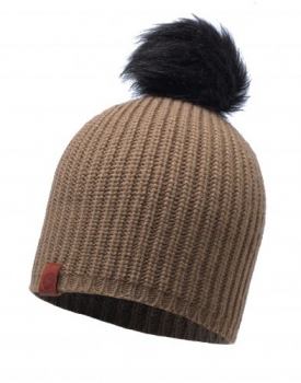Шапка Buff Knitted Hat Adalwolf Brown Taupe 115405