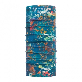Повязка Buff High UV Protection Aquatic Camo Turquoise 117012