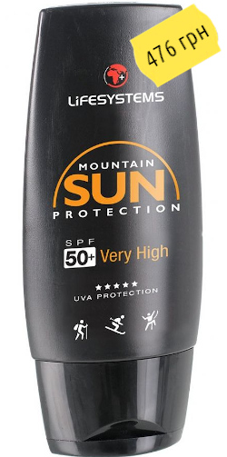 LifeSystems Mountain SPF50+ Sun Cream 100ml 40130