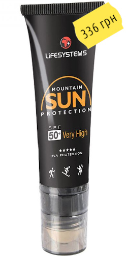 LifeSystems Mountain SPF50+ Sun Cream Stick 20ml 40040